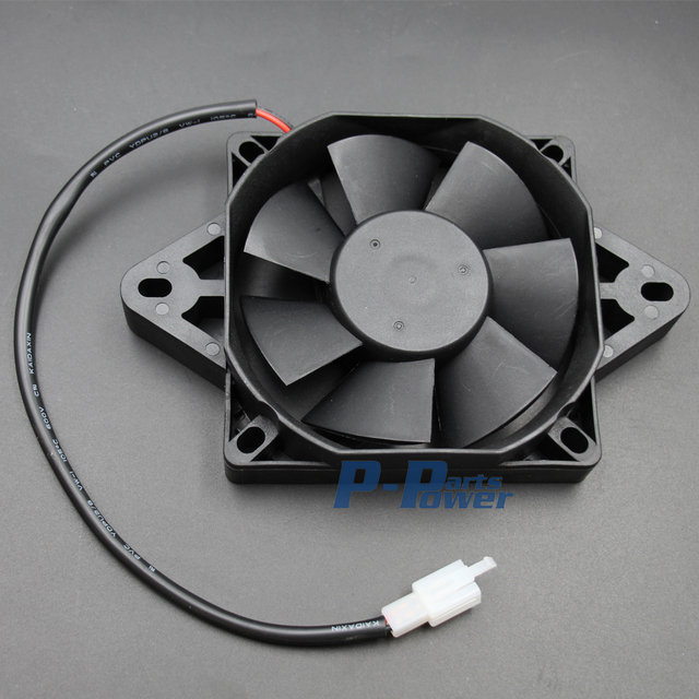 12 Volt Electric Engine Cooling Fan Radiator For Honda Kawasaki Suzuki Motorcycle Atv Mx Black New