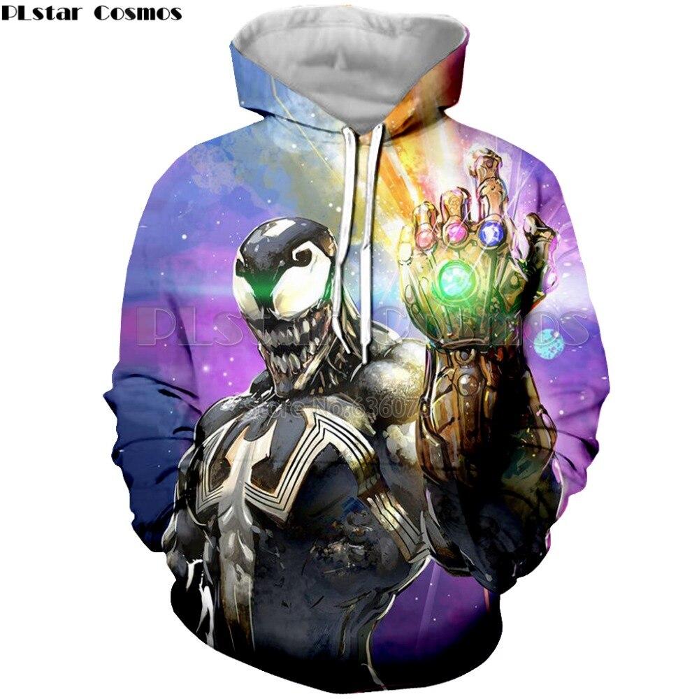 US $18 89 30% OFF|PLstar Cosmos Drop shipping Fashion Men's hoodies movie  Venom and Infinity Gauntlet Funny Print 3d Mens/Womens Hooded Sweatshirt-in