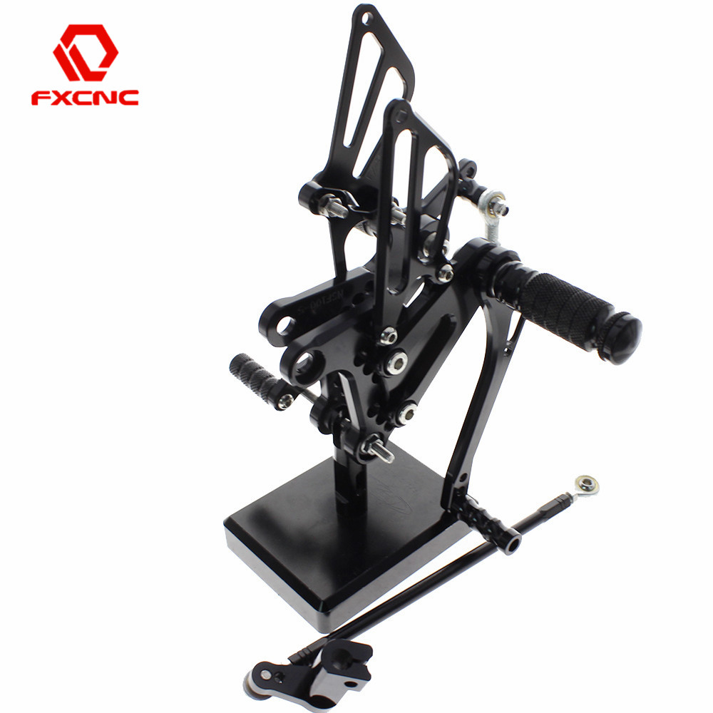 FOR Honda NSF100/<font><b>NSR50</b></font> 2004-2010 2009 2008 2007 2006 Aluminum Adjustable Motorcycle Rearsets Rear Sets Foot Pegs Pedal Footrest image