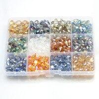 Бесплатная доставка разных размеров и форм в коробке miexed Цвета круглый конус Cube Rondelle падение Бусины для изготовления ювелирных изделий