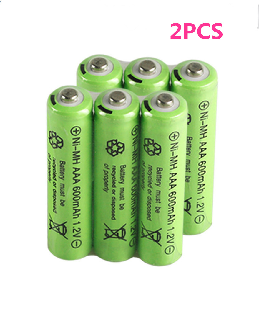 2PCS 1.2v 600mAh AAA Remote Control Toy Rechargeable NI-MH Rechargeable Battery AAA 1.2V 600mAh Free Shipping