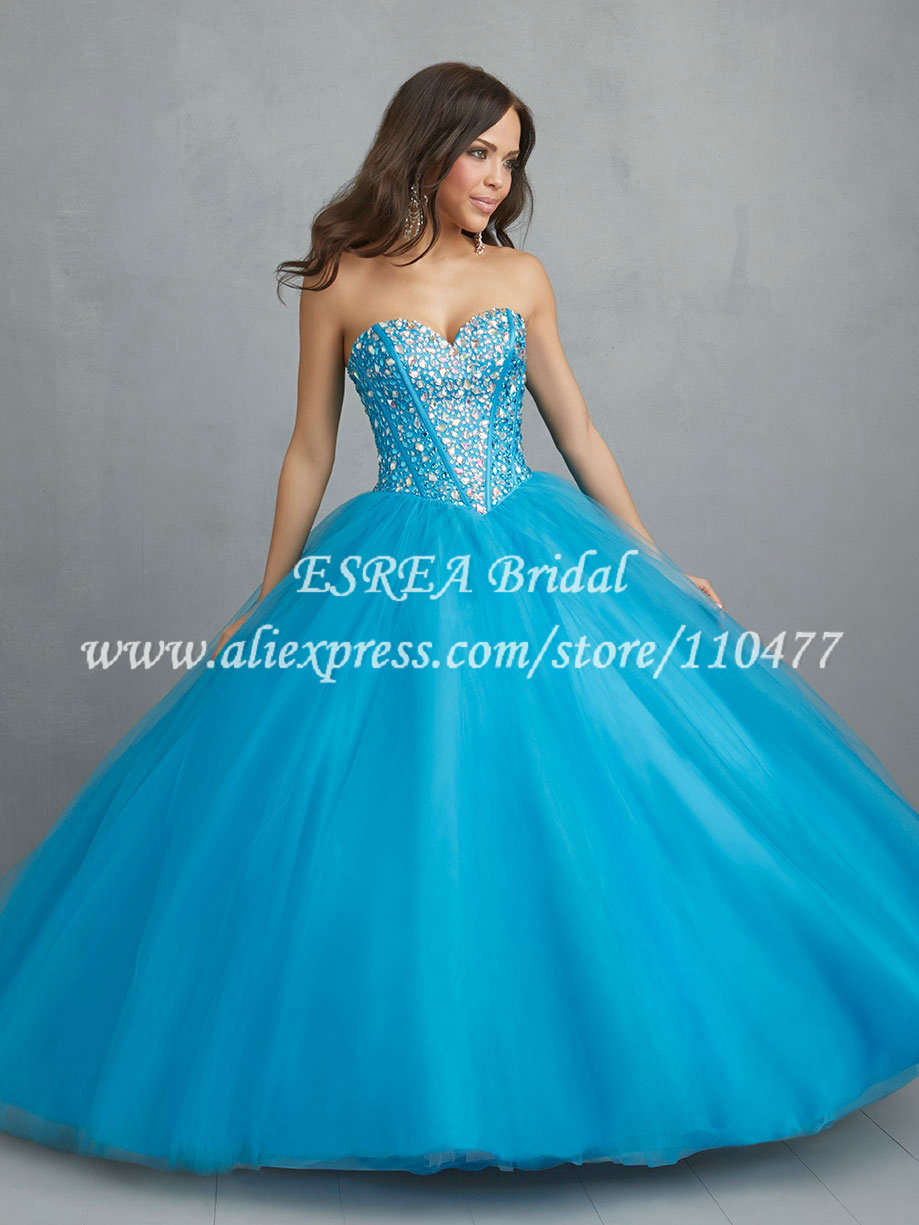 Sweet 16 Dresses Blue Quinceanera Dress for 15 Years Modern ...