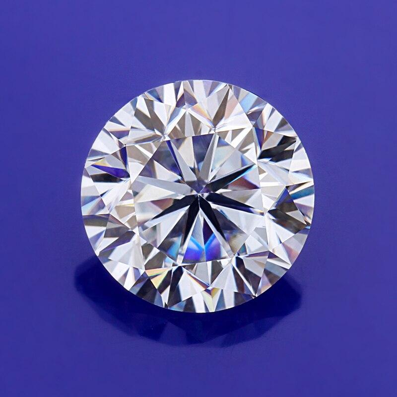 1.5ct EF муассаниты круглой формы 7,5 мм ювелирных изделий драгоценных камней