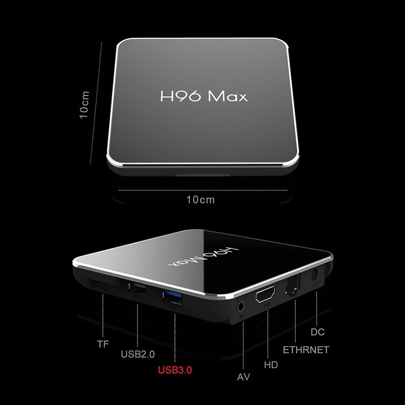 H96 MAX X2 Android 8.1 Internet TV BOX Amlogic S905X2 2g/4g RAM 16g/32g/64g Quad core 2.4G & 5G Wifi 4K HD lecteur multimédia Youtube-in Décodeurs TV from Electronique    2