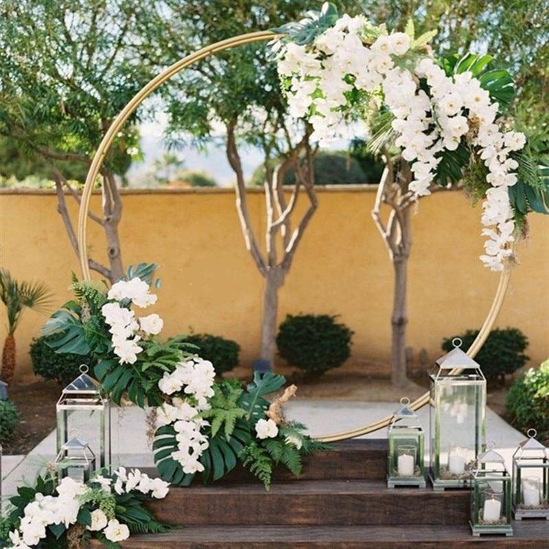 Customize DIY Wedding Backdrop Decor Iron Ring Arch