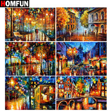 HOMFUN Full Square/Round Drill 5D DIY Diamond Painting Oil painting landscape 3D Embroidery Cross Stitch 5D Home Decor Gift homfun full square round drill 5d diy diamond painting house landscape embroidery cross stitch 5d home decor gift a18092