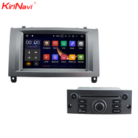 KiriNavi Android 7.1 WC PT7407 Car DVD Player For Peugeot 407 car multimedia navigation system car audio touch screen player