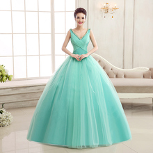 Turquoise Quinceanera Dresses V Neckline Corset Ball Gown Dress for 15 Years Tulle Quinceanera Dress Ruffles quinceanera jurk