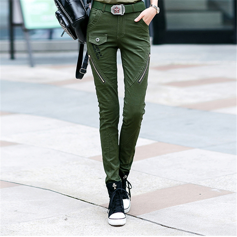 New Cotton Outdoor Slim Sport Pants Women Multi-pocket Army Tactical Trousers Wear Resistant Camping Trekking Hiking Pants Women