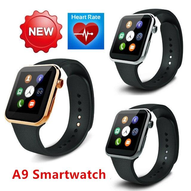 imágenes para Smartwatch A9 Bluetooth reloj Inteligente para el iphone de Apple y Samsung Teléfono Android relogio reloj inteligente Reloj Teléfono Inteligente 2017 Nuevo