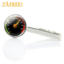 Wear Necktie Pin Speedometer Tie Clip New Arrival Interesting Car Speedometer Motorcycle Tractor Tie Bar Dress Accessories T604(China)