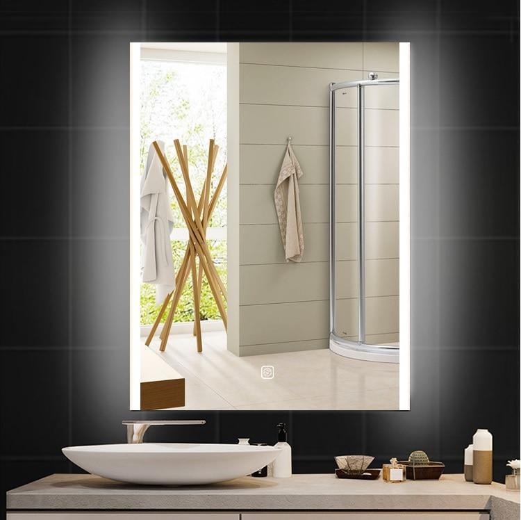 800x600mm LED Mirror / Bathroom Defogger Mirror /  Wet Location / 220V LED Lighted Mirror / Futuristic Chic Glossy 2
