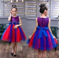 Bambini Senza Maniche Ricamo Della Vita 3D Fiori Vestito Dalla Ragazza Princess Tutu Party Eventi Abiti Da Sposa Per Teenage Girl Ball Gown
