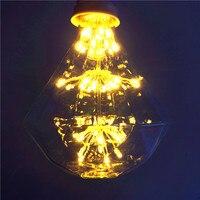 Nowy Nowość E27 3 W AC220V Edison żarówka 2200 K Fajerwerków home Decor Christmas lights dekoracje żarówki lampada SKU: NIU76N