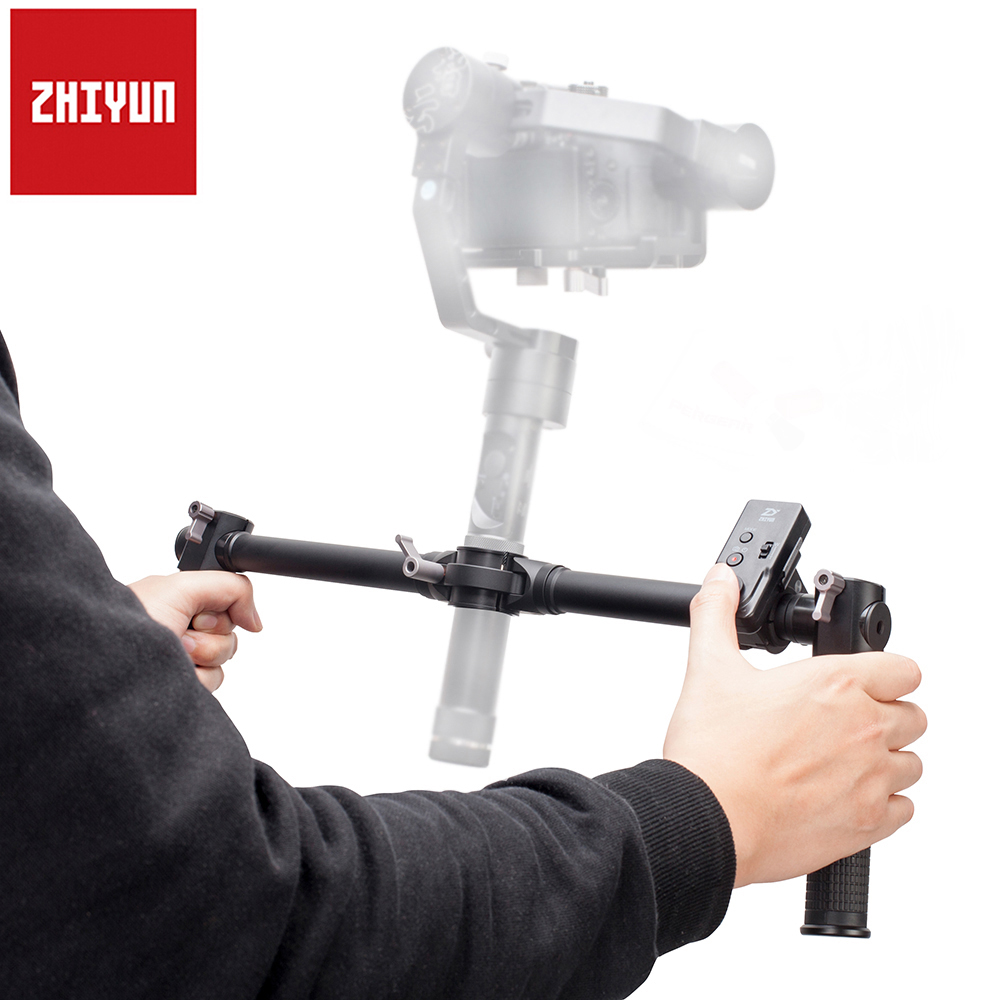 Zhiyun Dual Handheld Grip for Zhiyun Crane Crane-M 3-Axis Handheld Gimbal Stabilizer + Zhiyun ZW-B02 Wireless Remote Controller zhiyun crane m 3 axle handheld stabilizer gimbal remote controller case for dslr camera support 650g smartphone camera f19238 a