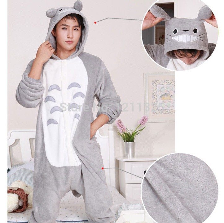 Free Shipping New Japan Animal Anime Totoro pop Pajamas One Piece Adult  Onesie for Women Men Halloween Party Pajama S-XL 719a89b35