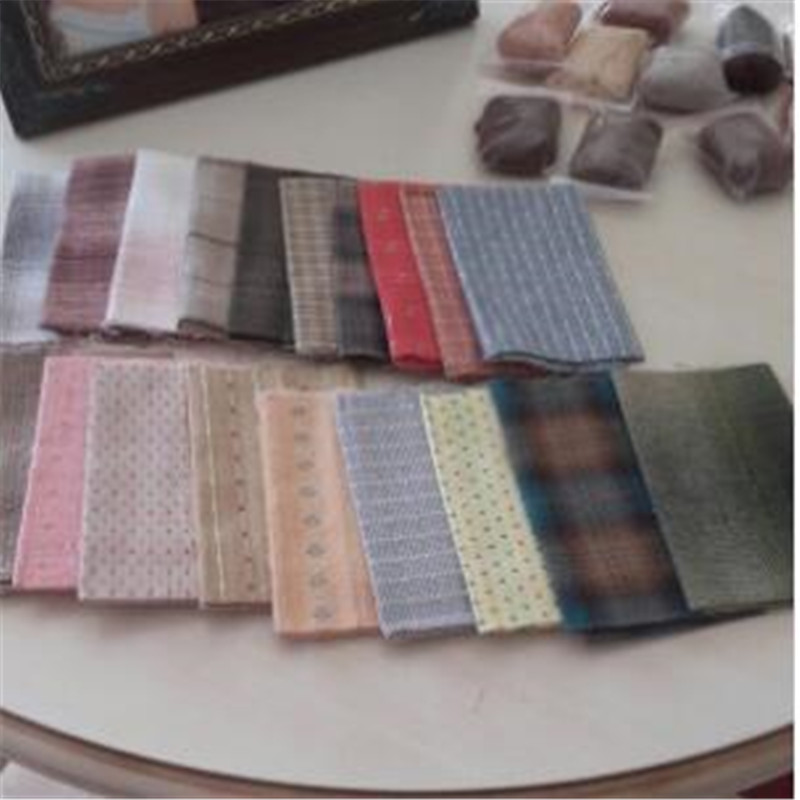 DIY Japan Little Cloth group Yarn dyed fabric for sewing Handmade Patchwork Quilting Grid stripe dot