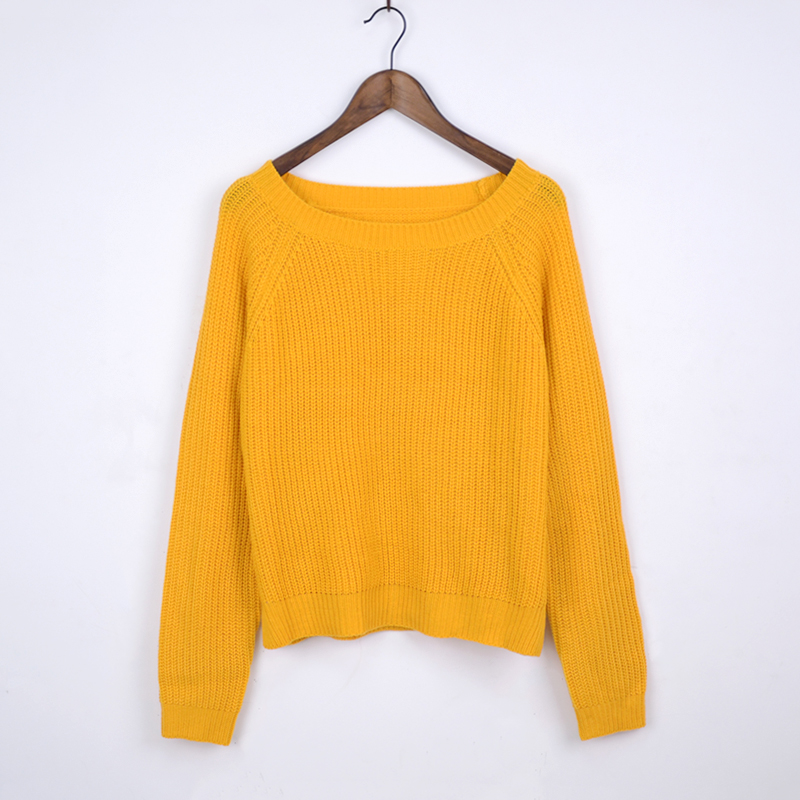 Autumn winter women sweaters and pullovers korean style long sleeve casual crop sweater slim solid knitted jumpers sweater mujer 19
