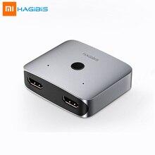 Многофункциональный адаптер конвертер Xiaomi hagils HDMI, двойной сплиттер переключатель HDMI 4K 1080P HDTV для умного дома с компьютерным ТВ