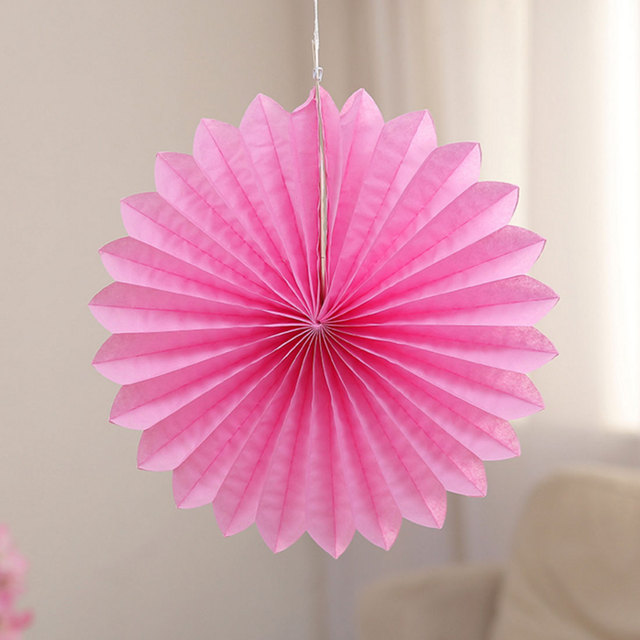 Newest 12 Inch 30cm Tissue Paper Fan Decoration Wedding Event Party