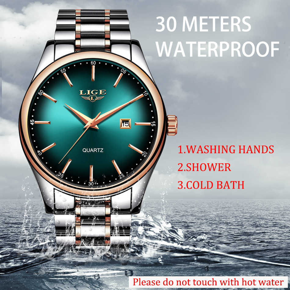 LIGE nouveaux hommes montres haut marque de luxe de mode affaires Quartz Camouflage montre hommes Sport étanche Date horloge Relogio Masculino
