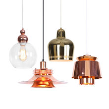 Led Pendent Lighting Copper Lamp Personality Cafe Creative Loft Corridor Railway Modern Retro Light Industrial Vintage Lampshade(China)