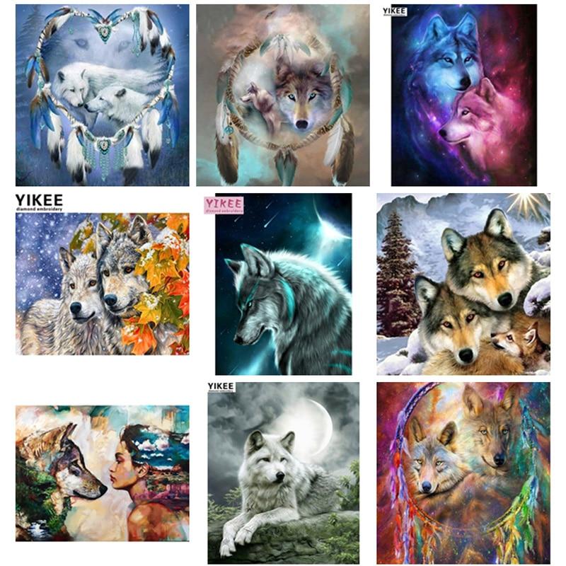 Алмазная вышивка волк, Алмазная мозаика, круглая, животные, полная, квадратная, алмазная живопись