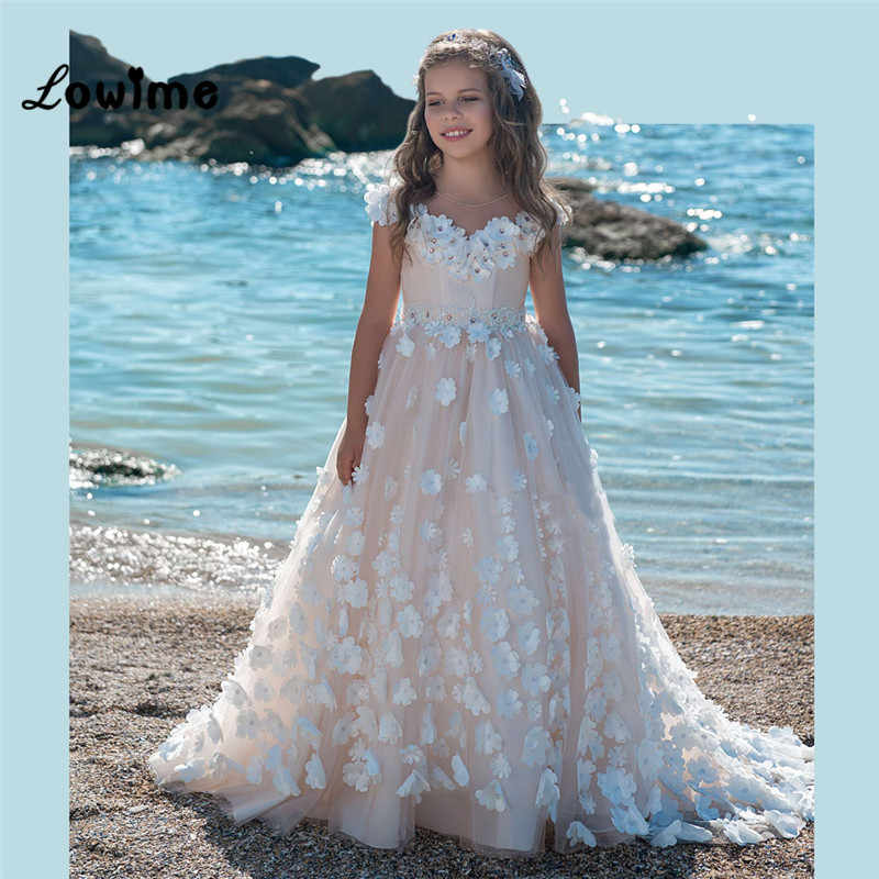 137c9822f4b Kids Pageant Evening Gowns Ball Gown Flower Girl Dresses For Weddings First  Communion Dresses Cheap 2018