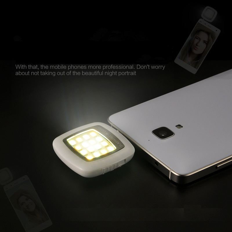 17 NEW Portable Rechargeable 16 Selfie Flash LED Camera Lamp Light For iPhone 6 6s Samsung HTC LG Xiaomi mobile Phones 4