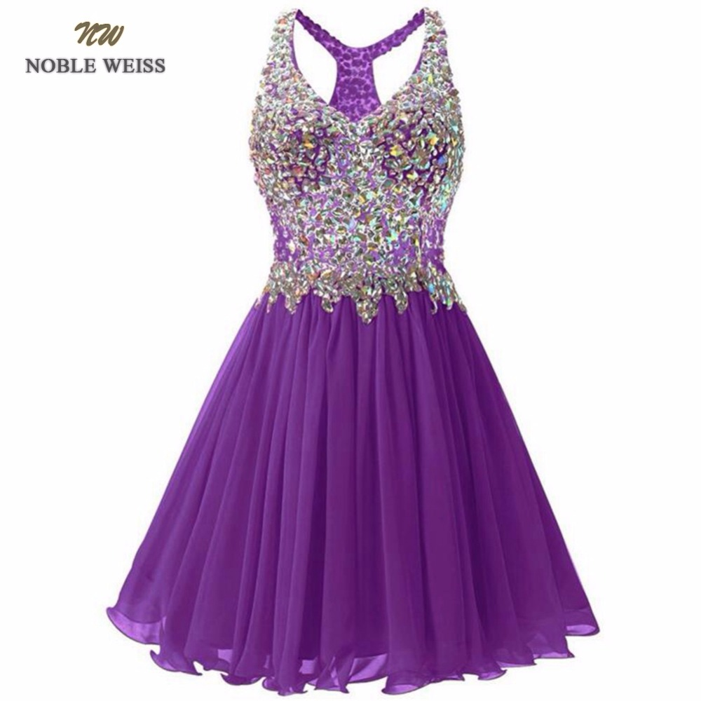 NOBLE WEISS   Prom     Dress   Crystal Beading Pleated Sexy Junior School   Prom   Gown Custom Made Special Occasion Homecoming   Dresses