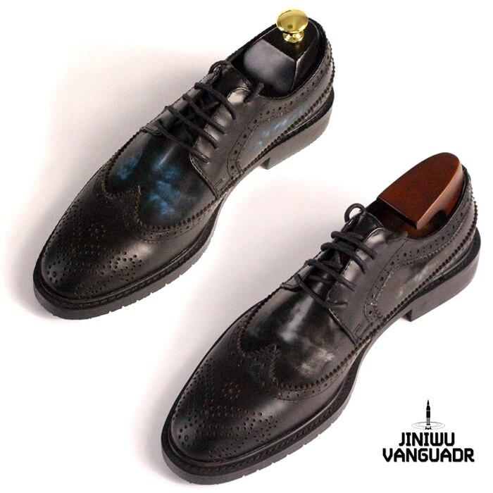 Ochsen Gemischte Handgemachten Rindsleder Kleid Shown as Qualität Party Formale Schuhe Hohe Männer Farbe Shown Geschnitzte Schwarz Luxus Brogue As HwOIx5q