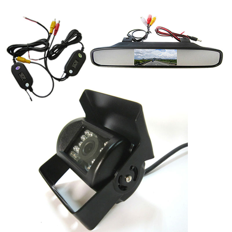 Car Rear View Reverse Back up Camera 4.3 Inch LCD Monitor with Car Rear View Reversing car parking camera Kit for Bus Truck
