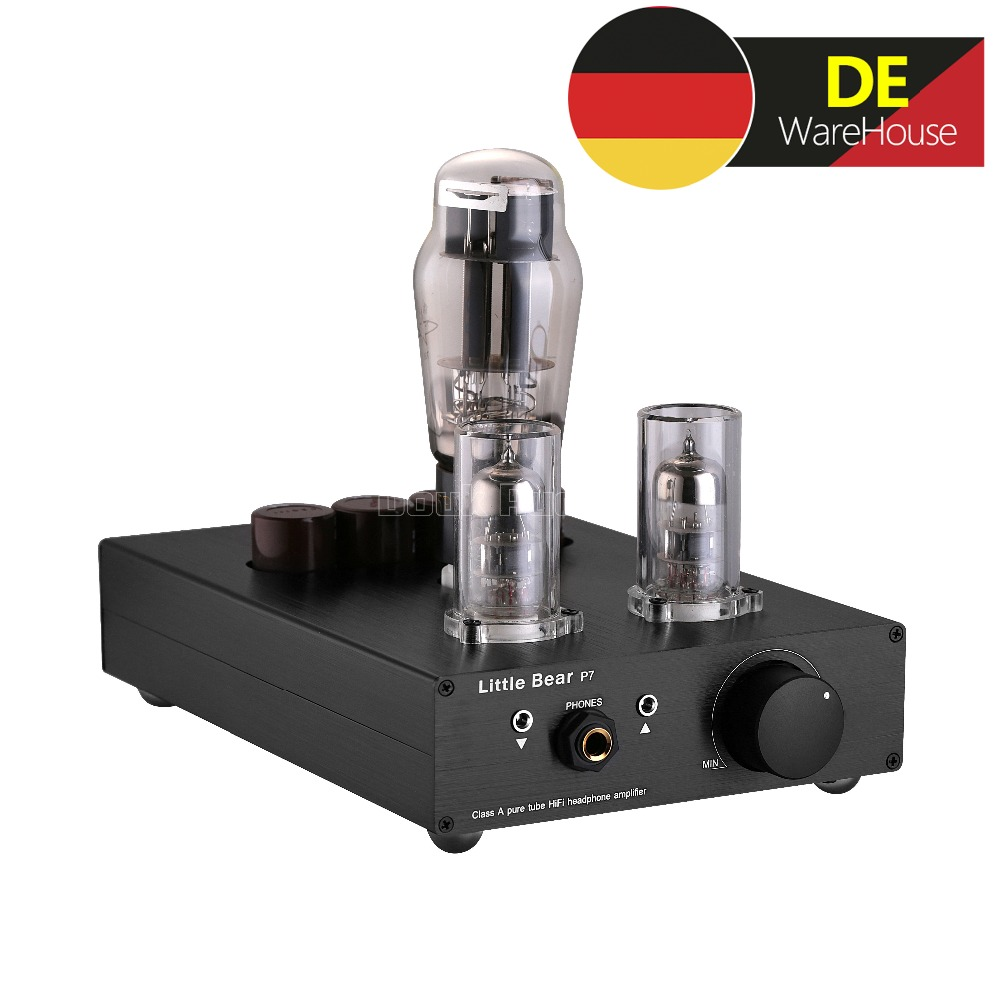 все цены на Nobsound Little Bear Stereo Class A SRPP 6N5P+6N3 Vacuum Tube Headphone Amplifier Hi-Fi Amp Audio Preamp Black