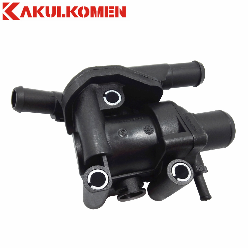 Water outlet thermostat housing assembly ys4z 8592 bd for ford escape focus mazda tribute