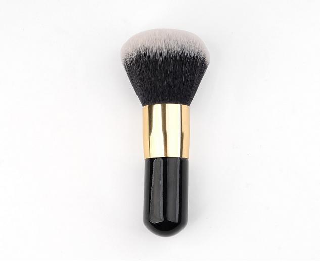 Пухлые Pier Фонд кисти для макияжа кисть одного черного и золотого цвета