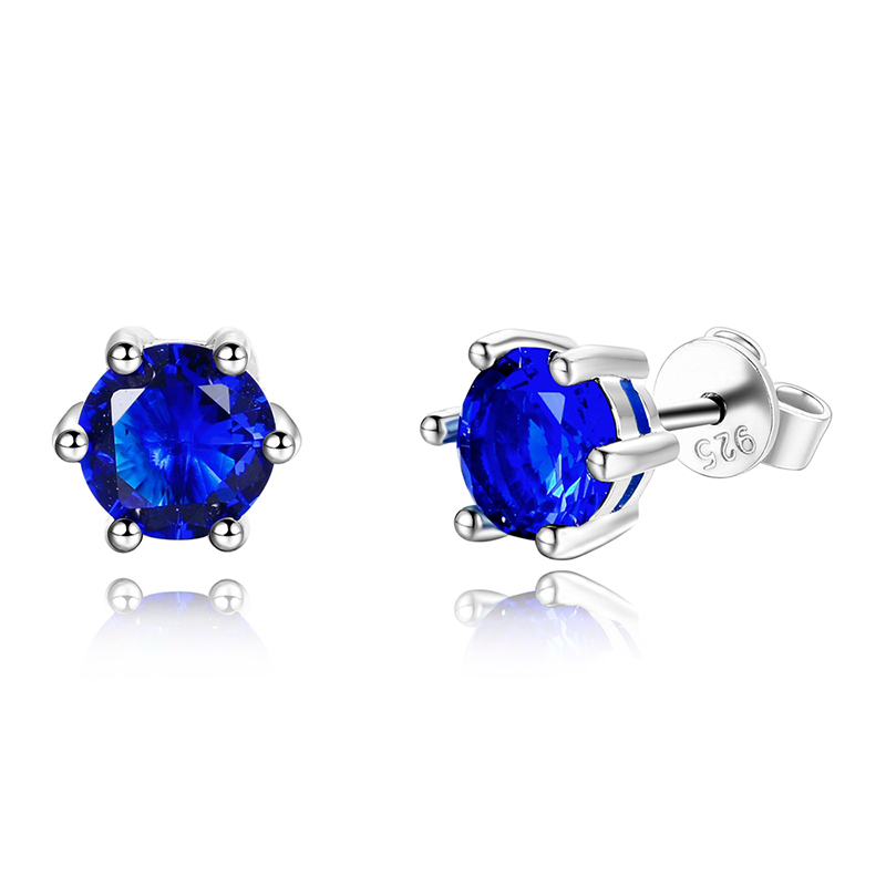 Nasia Real 925 Sterling Silver Earrings AAAAA Royal Blue Cubic Zircon Stud Earrings Women Fashion High Jewelry Party Wedding Gif ...