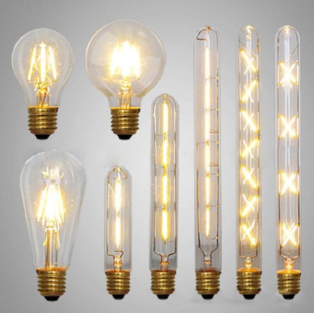Edison Bulbs 4 Tier Led Vintage Light Bulb: LED Edison Bulb Retro Bombillas LED E27 Vintage COB LED