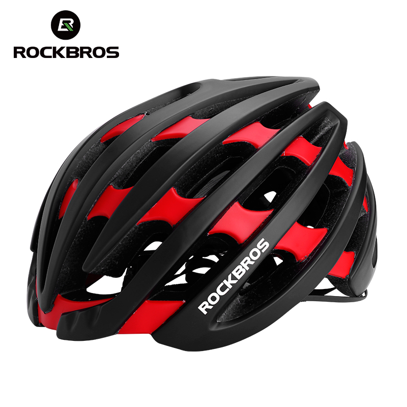 ROCKBROS Cycling Helmet EPS+PC Ultralight Integrally-molded Mens MTB Mountain Bicycle Helmet Professional Bike Safely Cap Black rockbros 9 16 magnesium alloy bicycle pedal titanium spindle ultralight mountain bike pedal 5 colors