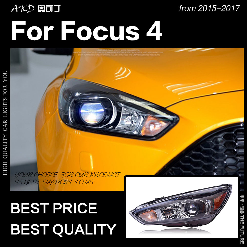 Akd Car Styling For Ford Focus Headlight 2017 St Sytle Headlights D2h Hid Option Angel Eye Bi Xenon Beam Accessories In Light Embly From