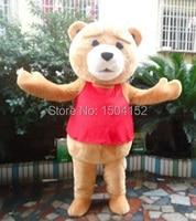 2014 hot sale tedy costume adult fur teddy bear mascot costume free shipping