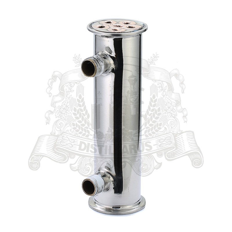 NEW 2  Dephlegmator / Reflux Stainless steel 304 with 6 pcs copper pipes inside , tri-clamp connection OD64 алексей алешко недвижимость inside 2