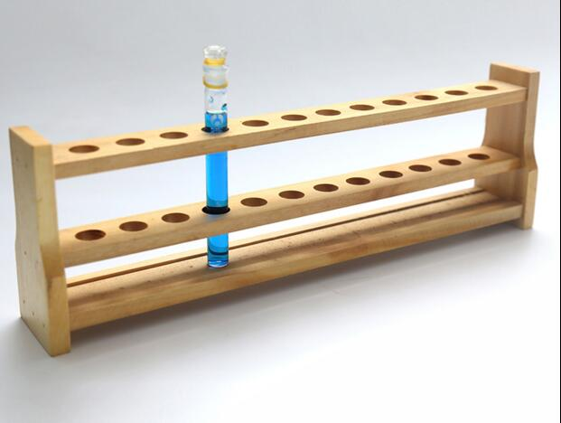 Wooden Test Tube Rack, 12Hole diameter 18mm and Pins-Solid Wood ,tube box. sales promotion 1pcs wooden test tube rack 12holes 24pcs glass test tube 24pcs silicone stopper