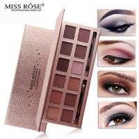 MISS ROSE Makeup Palette Natural shimmer shine 12 Colors Eye Shadow Sombra pallete Nude Matte Eyeshadow Palette pigment