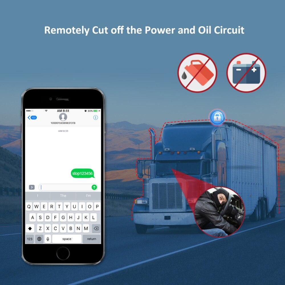 Dispositif de suivi de voiture traqueur GPS 3G Concox GT06E huile coupée localisateur GPS moniteur vocal étanche kilométrage alarme de Vibration APP Web - 4