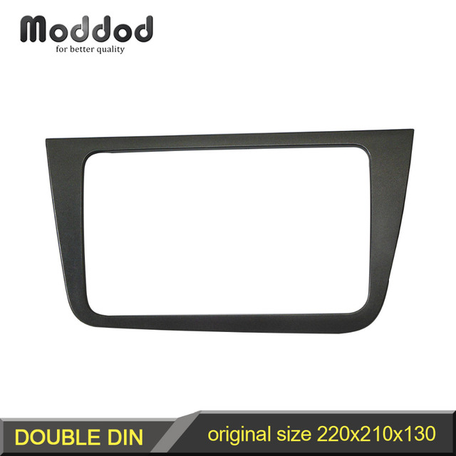 Double 2 Din Fascia for Seat Altea LHD Radio Stereo Panel Dash Mounting Installation Trim Face Frame Bezel