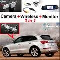3in1 Pantalla WiFi de La Cámara + Receptor Inalámbrico + Espejo Especial Fácil DIY Bakc Up Aparcamiento Sistema de Visión Trasera Para Audi Q5 2008 ~ 2014
