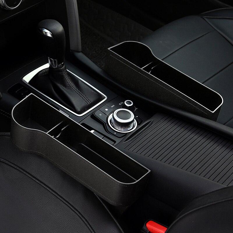 Car Seat Storage Pockets Organizer Box Plastic Auto Car Seat Gap Pocket Catcher Organizer Storage Box