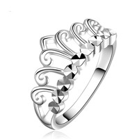 The Whole World An Crown Woman Ring White War In Paradise Electroplate Factory boho rings for women jewelry CAR555 jiezh