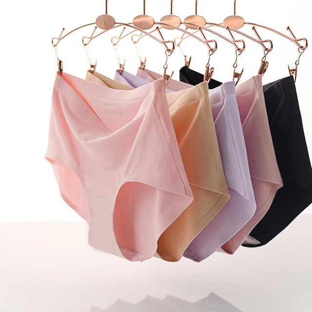 4 PCS MISTURAR CORES One-piece Cuecas Sem Costura Traceless lingerie de Algodão Sexy Roupa Interior das Mulheres Calcinhas Cuecas NK007