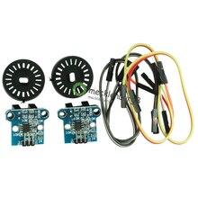 Conjunto 2 HC 020K Módulo Sensor de Medição De Velocidade Dupla com Encoders Fotoelétricos Kit top